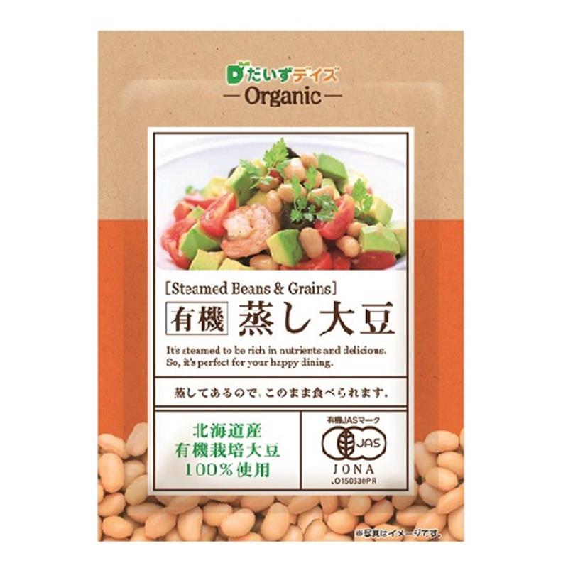 有機 蒸し大豆 100g