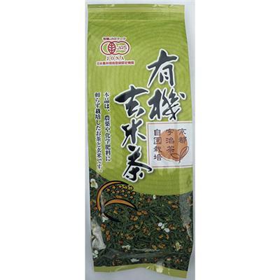 <京都播磨園>有機 玄米茶 150g