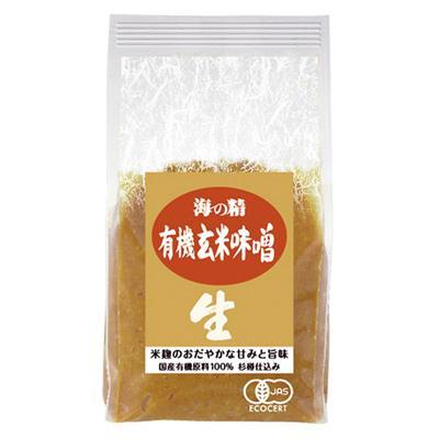 <海の精>国産有機 玄米味噌 1kg