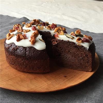 ココアと米粉のナッツケーキ