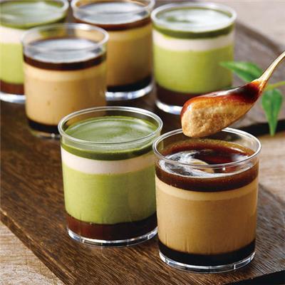 黒蜜とコーヒー&抹茶と小豆のムースセット