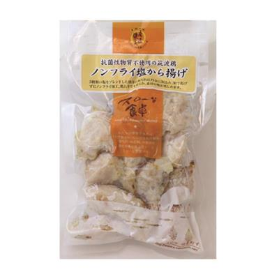 【冷凍】つくば鶏 ノンフライ若鶏塩から揚げ 180g