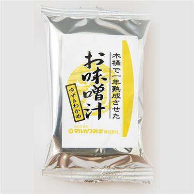 <マルカワ>インスタントみそ汁(ゆずわかめ)8g