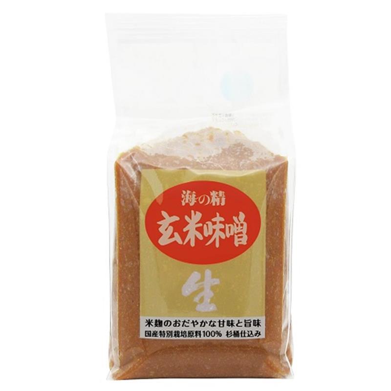 <海の精>国産特栽・玄米味噌 1kg