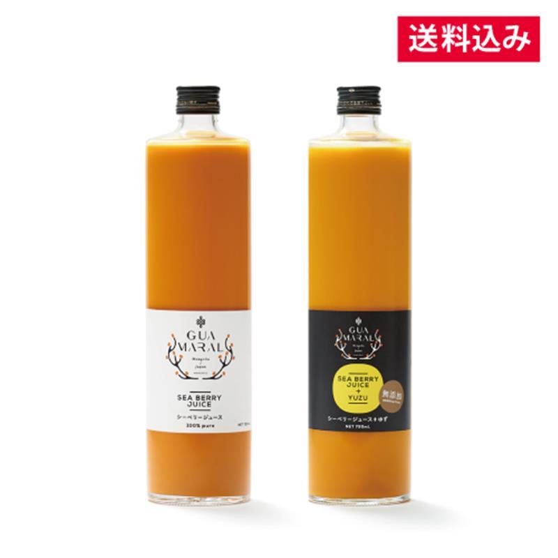 【毎月お届け】シーベリージュース100% &+ゆず 720mL×各1本